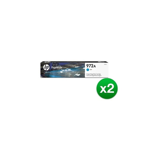 HP 972A Cyan Original PageWide Cartridge (L0R86AN)(2-Pack)