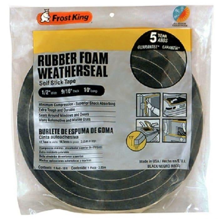 Frost King R930H Rubber Foam Weather-Strip Tape, 1/2