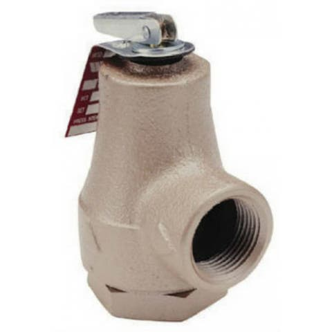 "Watts 374A Boiler Water Pressure Relief Valve, 3/4"""