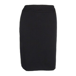 Tahari Women's Textured-Waistband Ponte Pencil Skirt