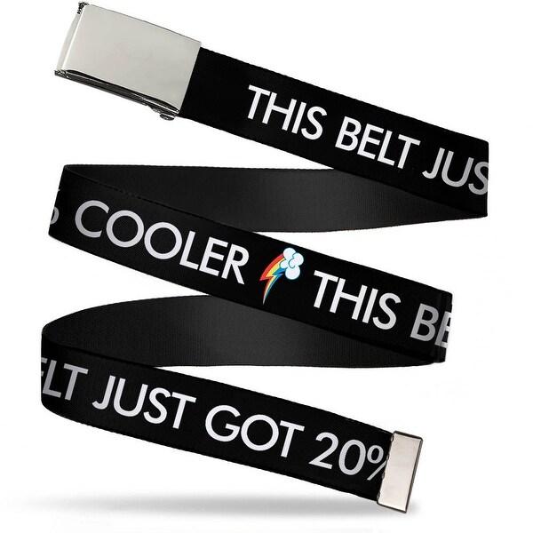 Blank Chrome Buckle This Belt Just Got 20% Cooler Rainbow Dash Cutie Web Belt