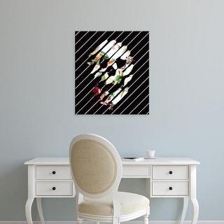 Easy Art Prints Ali Gulec's 'Skull Slant' Premium Canvas Art