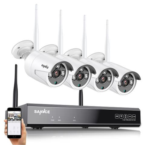 SANNCE 8CH 5MP Super HD Wireless NVR Security Camera System