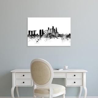 Easy Art Prints Michael Tompsett's 'Singapore Skyline' Premium Canvas Art