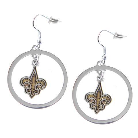 """New Orleans Saints Hoop Earring - 1 1/4"""" Hoop"""