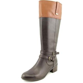 Bandolino Carlotta Women Round Toe Leather Brown Knee High Boot