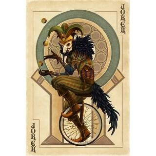 Joker - Playing Card - Lantern Press Artwork (Playing Card Deck - 52 Card Poker Size with Jokers)