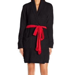 Betsey Johnson NEW Black Red Women's Size Large L Heart Print Robes