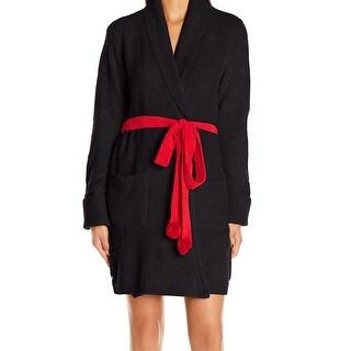 Betsey Johnson NEW Black Red Women's Size Medium M Heart Print Robes