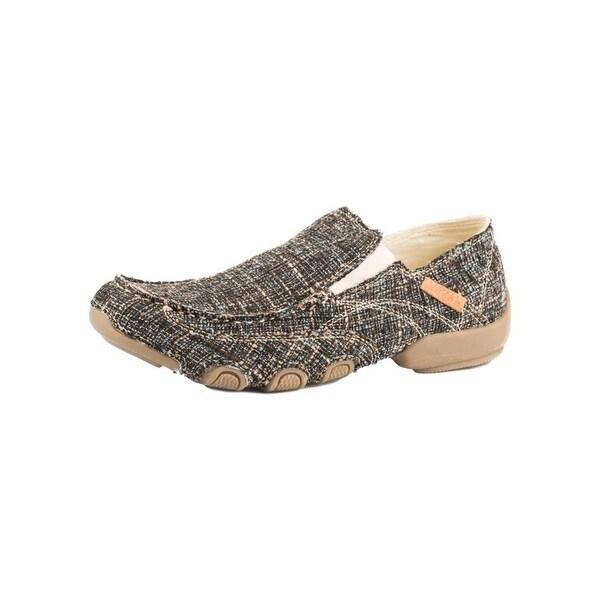 Roper Western Shoes Men Tweed Moc Slip On Dougie