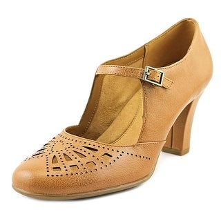 Aerosoles Role of Fate Women  Round Toe Leather Tan Mary Janes