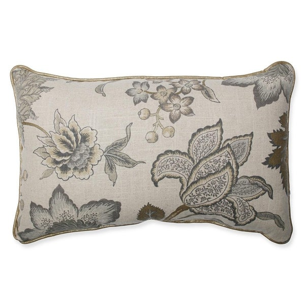 "18.5"" Jacobean Flair Vermeil Corded Rectangular Indoor Throw Pillow"