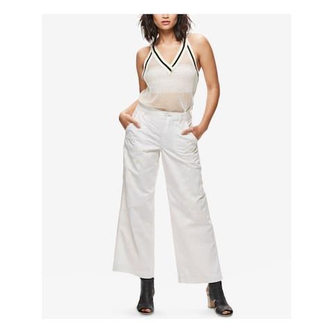 FREE PEOPLE Womens Ivory Wide Leg Pants Size 0