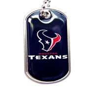 Houston Texans Dog Tag Necklace Charm Chain