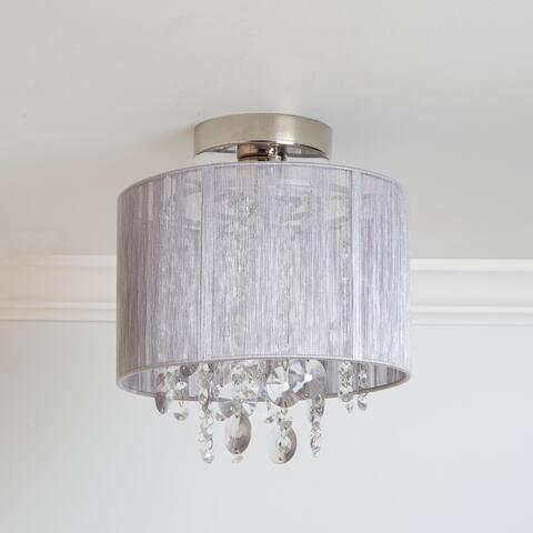 Silvia String Beaded Flush Mount Ceiling Light