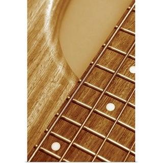 """""""Close-up of guitar bridge"""" Poster Print"""