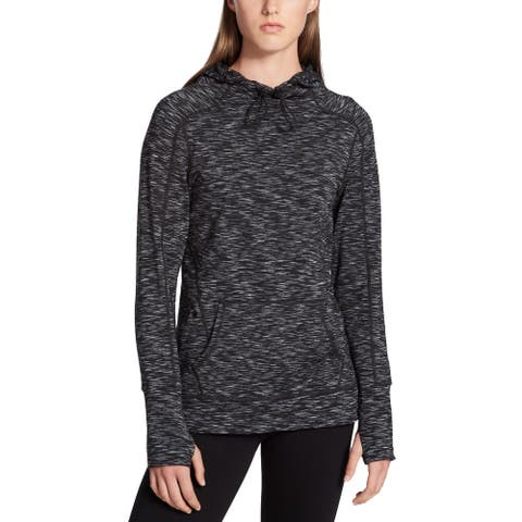 Calvin Klein Performance Women's Space-Dyed Hoodie (Black, XS)
