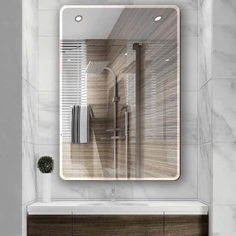 20 in. W x 28 in. L Single Beveled Edge Bath Wall Vanity Mirror