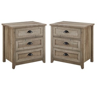 Link to The Gray Barn 3-Drawer Farmhouse Nightstands, Set of 2 Similar Items in Bedroom Furniture
