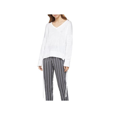 BCBGeneration Womens Pullover Sweater Knit Side Tie - M