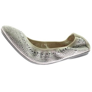 Hush Puppies Womens Chaste Ballet Flats Leather Rhinestone