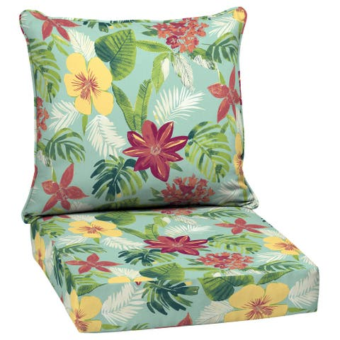 Arden Selections Elea Tropical Outdoor Deep Seat Cushion Set - 24 W x 24 D in.