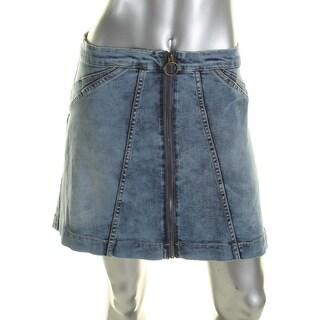 Buffalo David Bitton Womens Denim Skirt Denim Flared