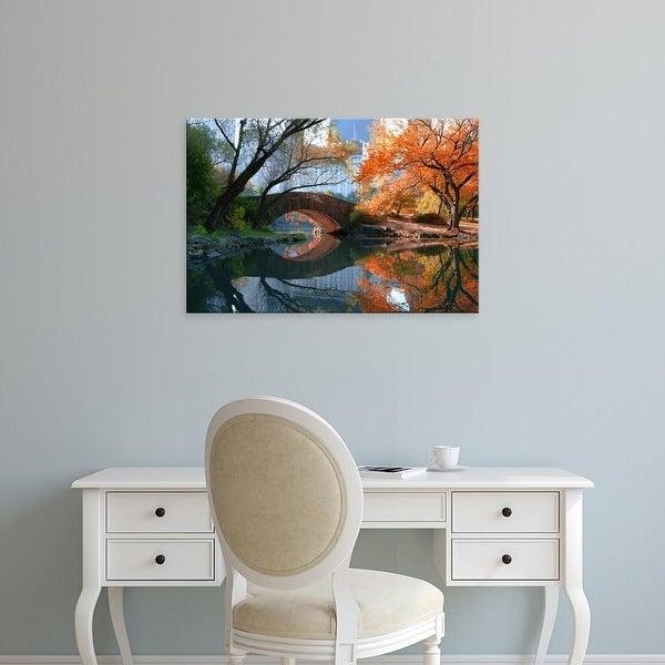 Easy Art Prints Michael Chen's 'Gapstow Bridge, Fall' Premium Canvas Art