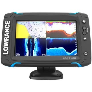 Lowrance 000-12417-001 Elite-7 Ti Touch 83/200 47T7T/800 HDI Transducer Elite-7 Ti Touch Combo - Med/High/455/800 HDI Transom