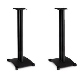 "Sanus SB34 Steel Series 34"" Bookshelf Speaker Stands - Pair (Black)"