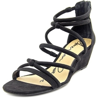 American Rag Calla Women Open Toe Synthetic Black Wedge Sandal