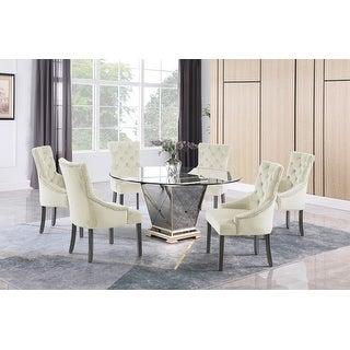 Best Master Furniture 60″ 7 Pieces Dining Set