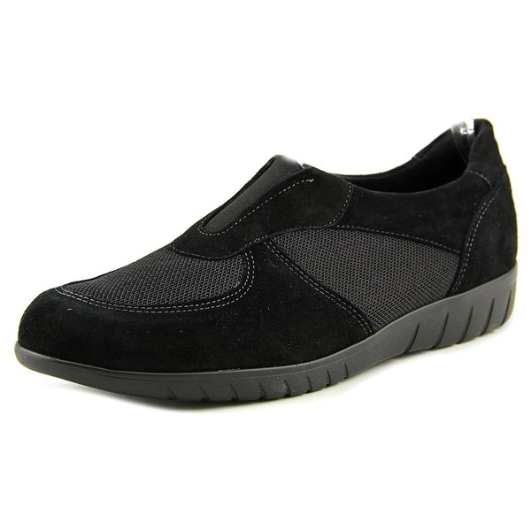 Munro American Olympia Women Round Toe Suede Black Loafer