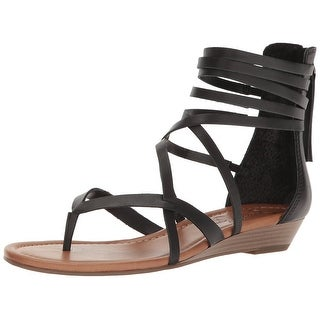 Jessica Simpson Womens Roselen Leather Split Toe Casual Strappy Sandals