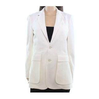 Polo Ralph Lauren NEW White Ivory Womens Size 14 Two-Button Blazer