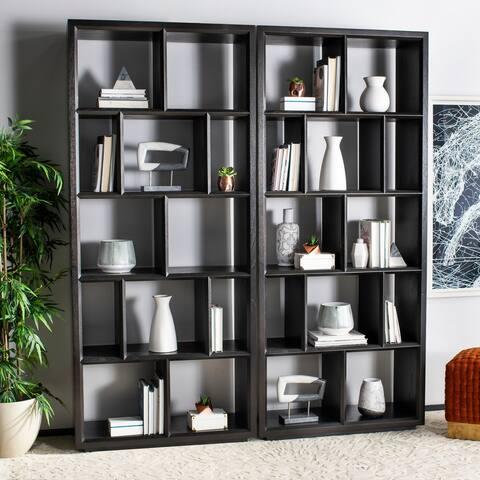 Safavieh Couture Kyra Espresso 12-unit Bookcase - 39 in w x 16 in d x 90 in h