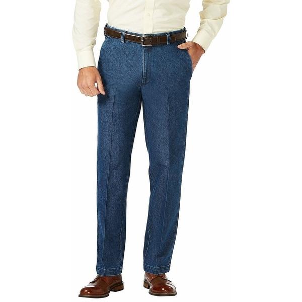Haggar Mens Pants Blue Size 42X30 Classic-Fit 4-Pocket Denim Stretch. Opens flyout.
