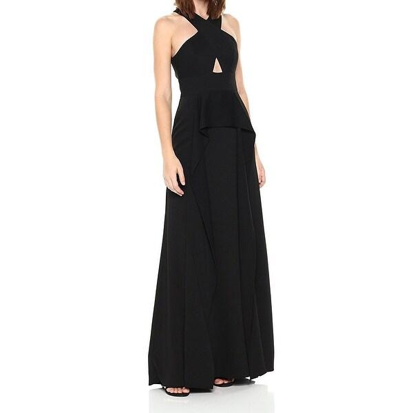 BCBG Max Azria NEW Black Womens Size 6 Cutout Open-Back Salome Gown ...
