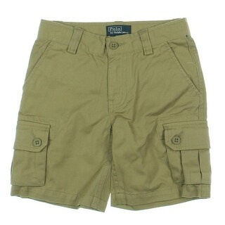 Polo Ralph Lauren Boys Cargo Shorts Solid Flat Front - 4/4t