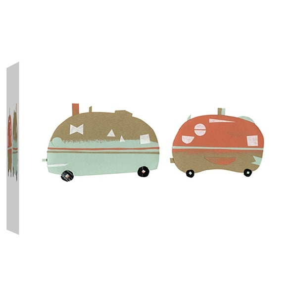 """PTM Images 9-102075 PTM Canvas Collection 8"""" x 10"""" - """"Happy Camping"""" Giclee Camping Art Print on Canvas"""