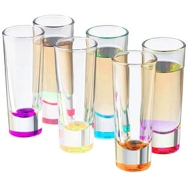 Palais Glassware Heavy Base Shot Glass Set (Set of 6) 2 Oz. (Bottom Colored)