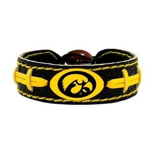 Iowa Hawkeyes Team Color NCAA Gamewear Leather Football Bracelet