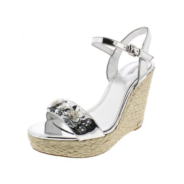 46ef1fd490a6 Shop MICHAEL Michael Kors Womens Jill Espadrilles Sandals Platforms - Free  Shipping Today - Overstock - 27699487