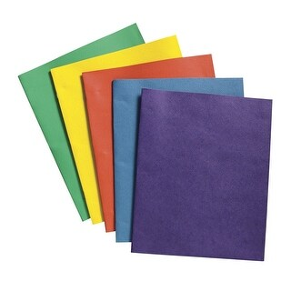 School Smart 2 Pocket Folder with Fasteners, Assorted Color, Pack of 25