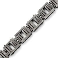Chisel Stainless Steel Brushed with CZ Bracelet