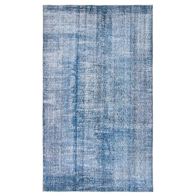 ECARPETGALLERY Hand-knotted Color Transition Dark Blue Wool Rug - 5'0 x 8'8