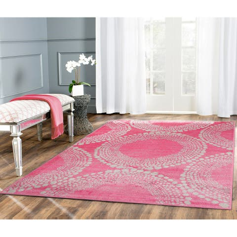 LoomBloom Persian Persian Polypropylene Modern & Contemporary Oriental Area Rug Pink Color