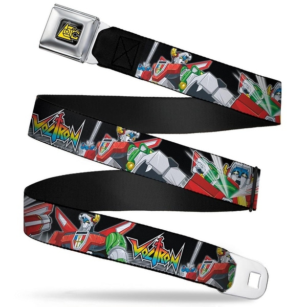 Voltron Lion Symbol Full Color Black White Yellow Voltron Logo2 Intro Seatbelt Belt