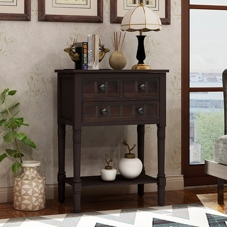 Link to Copper Grove Colby 3-drawer Console Table with Bottom Shelf Similar Items in Living Room Furniture