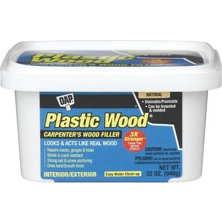 Dap 00525 Plastic Wood Filler, 32 Oz, Natural